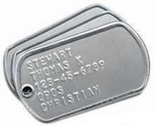 Embossed Military Dull Tag
